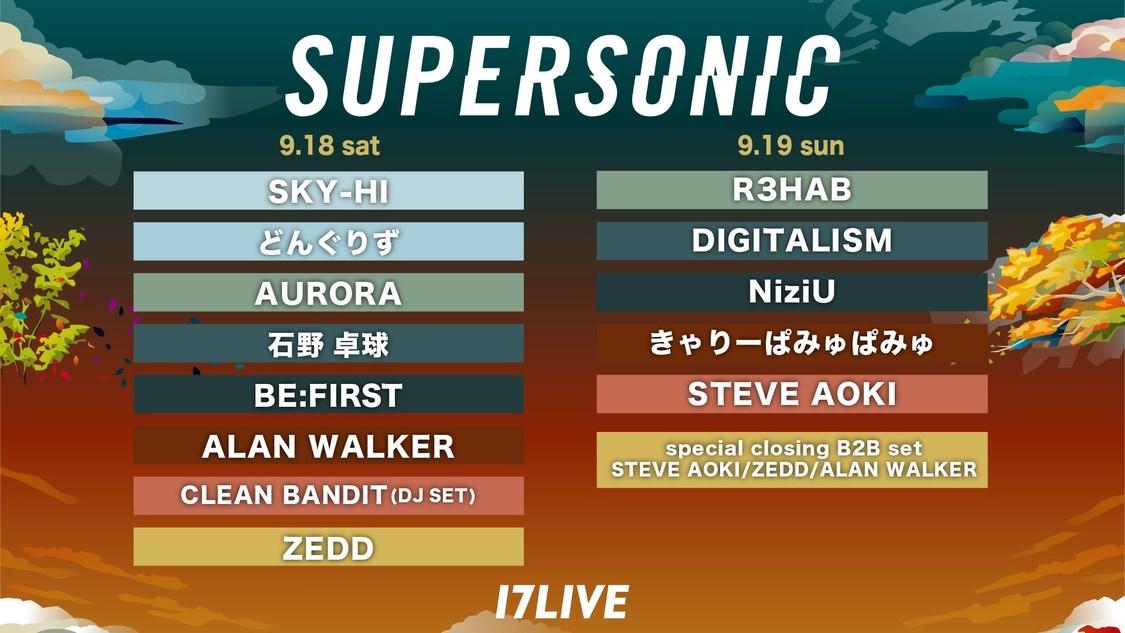 NiziU、17LIVEにて<SUPERSONIC 2021>配信決定!