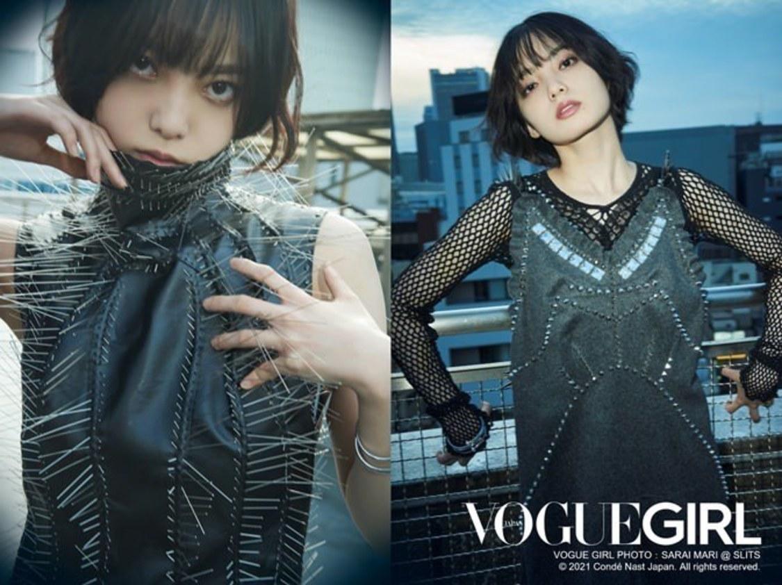 平手友梨奈(VOGUE GIRL PHOTO:SARAI MARI @ SLITS © 2021 Condé Nast Japan. All rights reserved.)