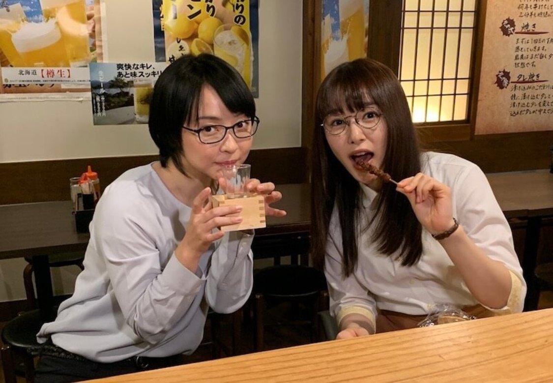 桜井日奈子、女優・未来とともに焼き鳥と日本酒を嗜むオフショット公開! 『ごほうびごはん』オフィシャルブログより