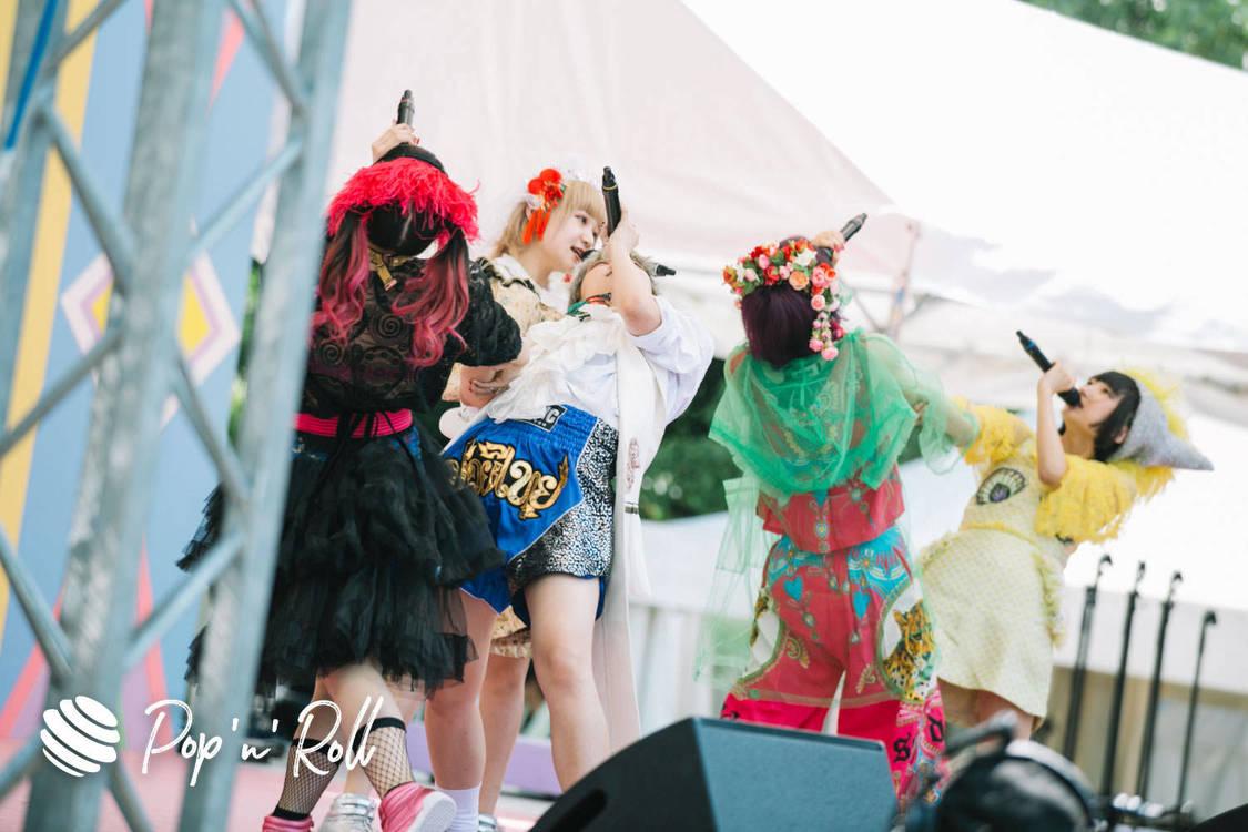 【TIFフォトレポート】でんぱ組虹コンJr.メンバー オーディションステージ、8/3 SMILE GARDEN(12:55-)