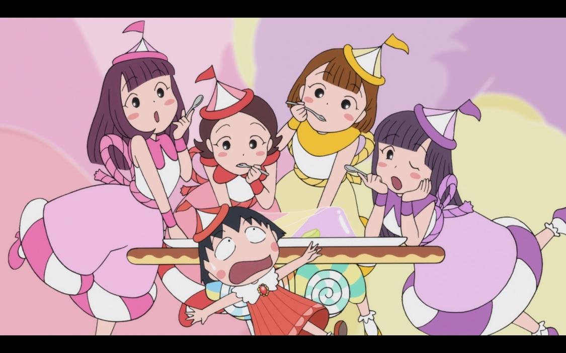ももクロ、まるちゃんと仲間たちが大集合!全編アニメの「おどるポンポコリン」MV公開