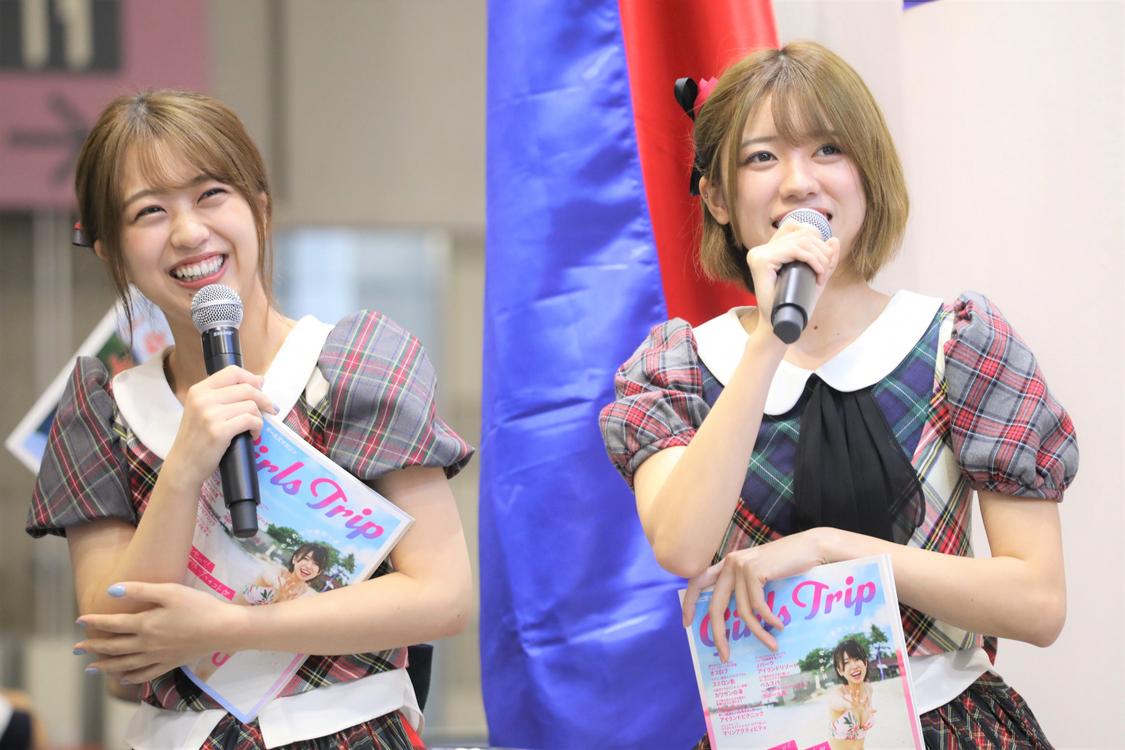 AKB48 大西桃香&篠崎彩奈、ファンと掴んだセブ島ガイドブック&見どころを紹介!