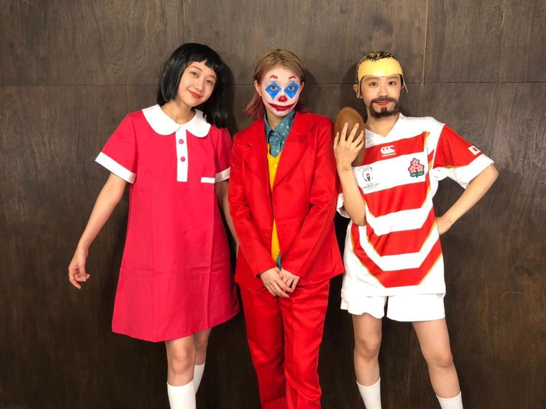 高田秋、大矢梨華子、碓井玲菜、本人にそっくり!? ハロウィン仮装でレギュラーWEB番組出演