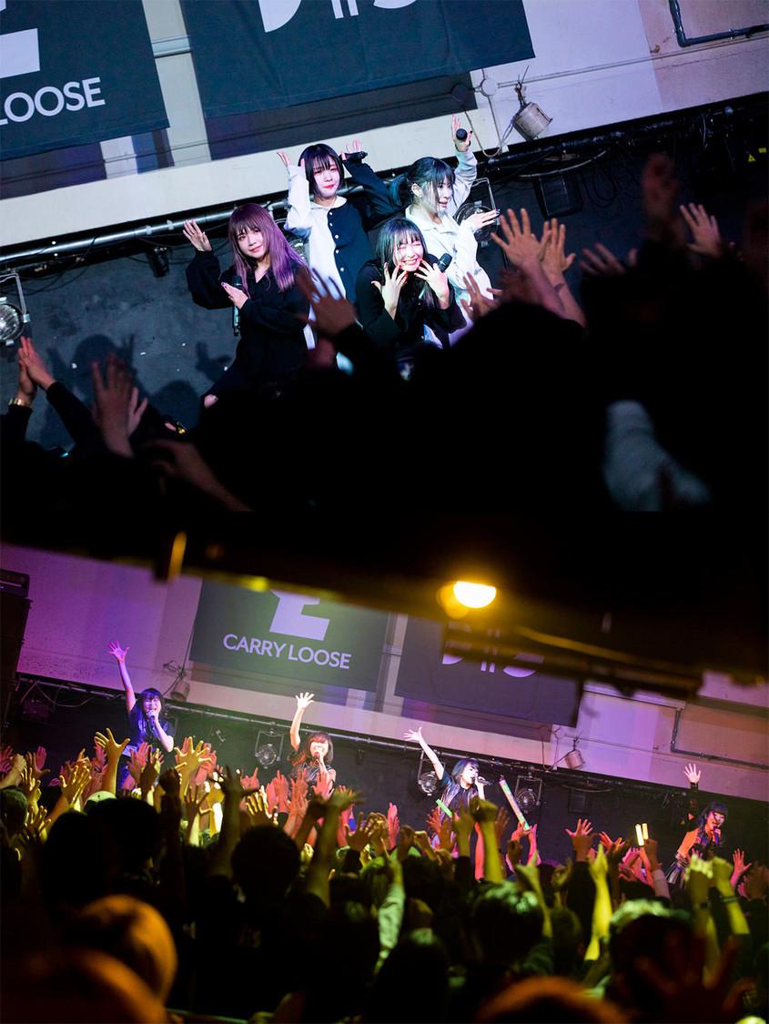 CARRY LOOSE、BiS[ライブレポート]切磋琢磨し合う2組が見せた輝かしき競演