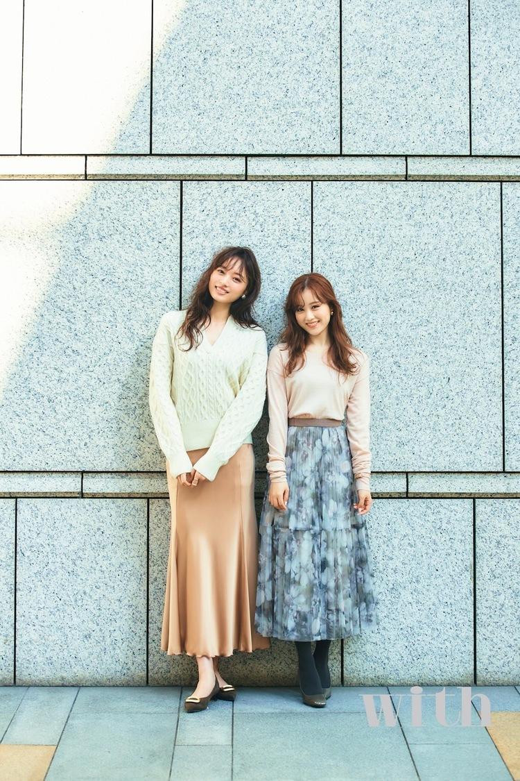 乃木坂46 星野みなみ&梅澤美波、OLになって冬の通勤コーデを紹介! 『with』登場
