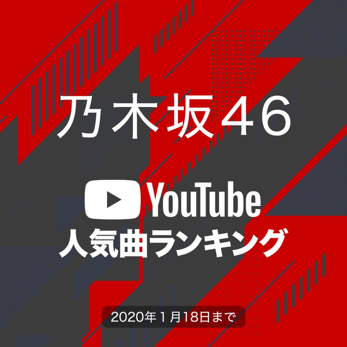 乃木坂46[YouTube人気曲ランキング]再生回数が1番多い曲は?