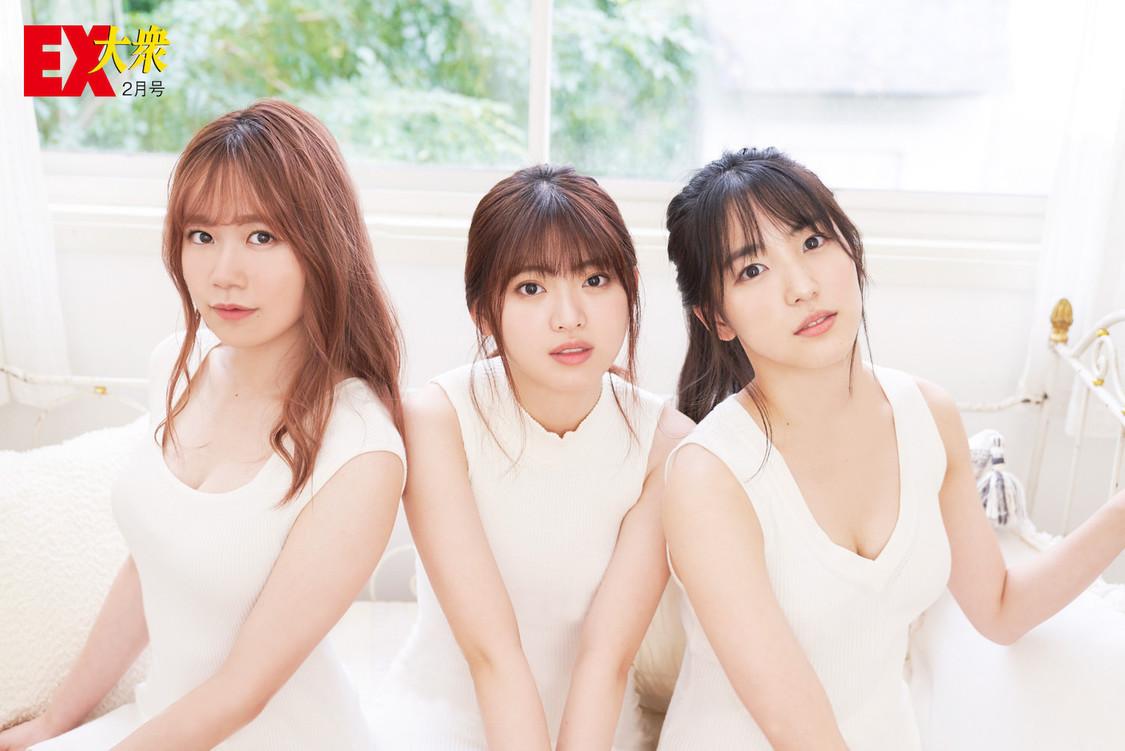 AKB48 馬嘉伶、服部有菜、下尾みう、『AKB48ビートカーニバル』コラボ企画で『EX大衆』グラビア&インタビュー登場!