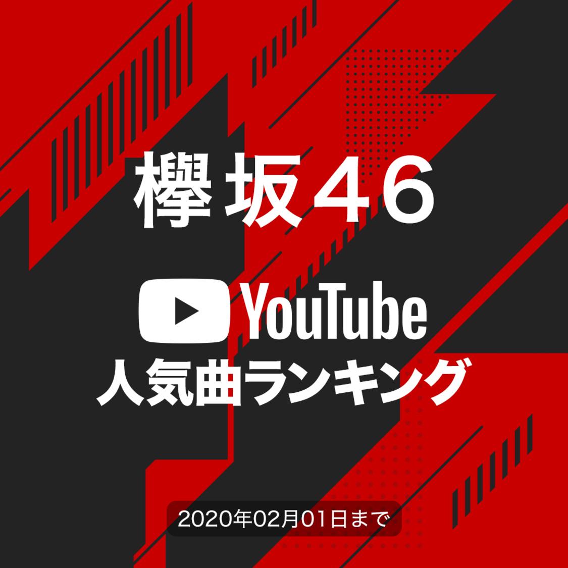 欅坂46[YouTube人気曲ランキング]再生回数が1番多い曲は?