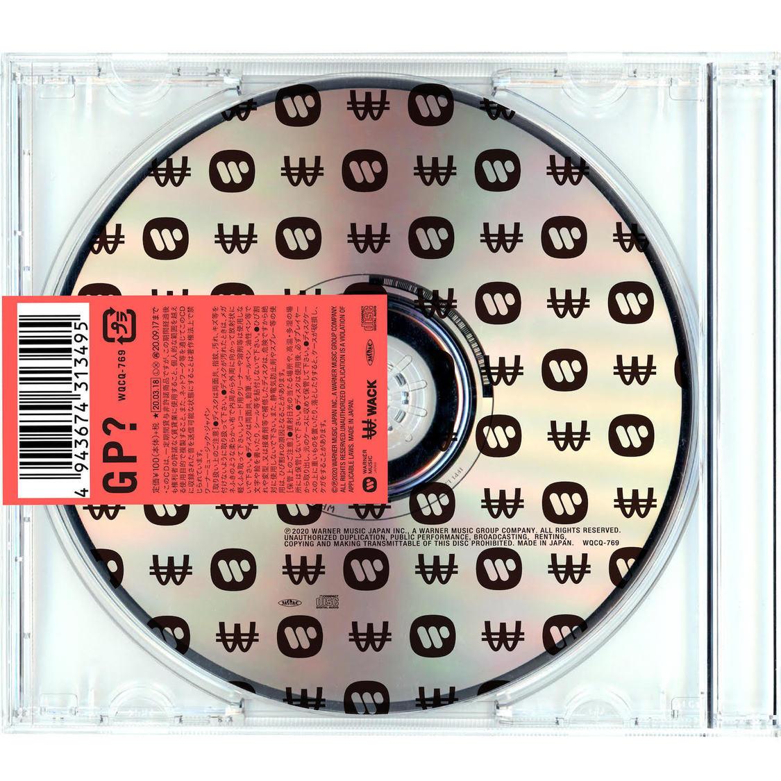 WACK&ワーナーミュージックが手掛ける謎のアーティスト、ミニAL『GP?』をゲリラリリース!