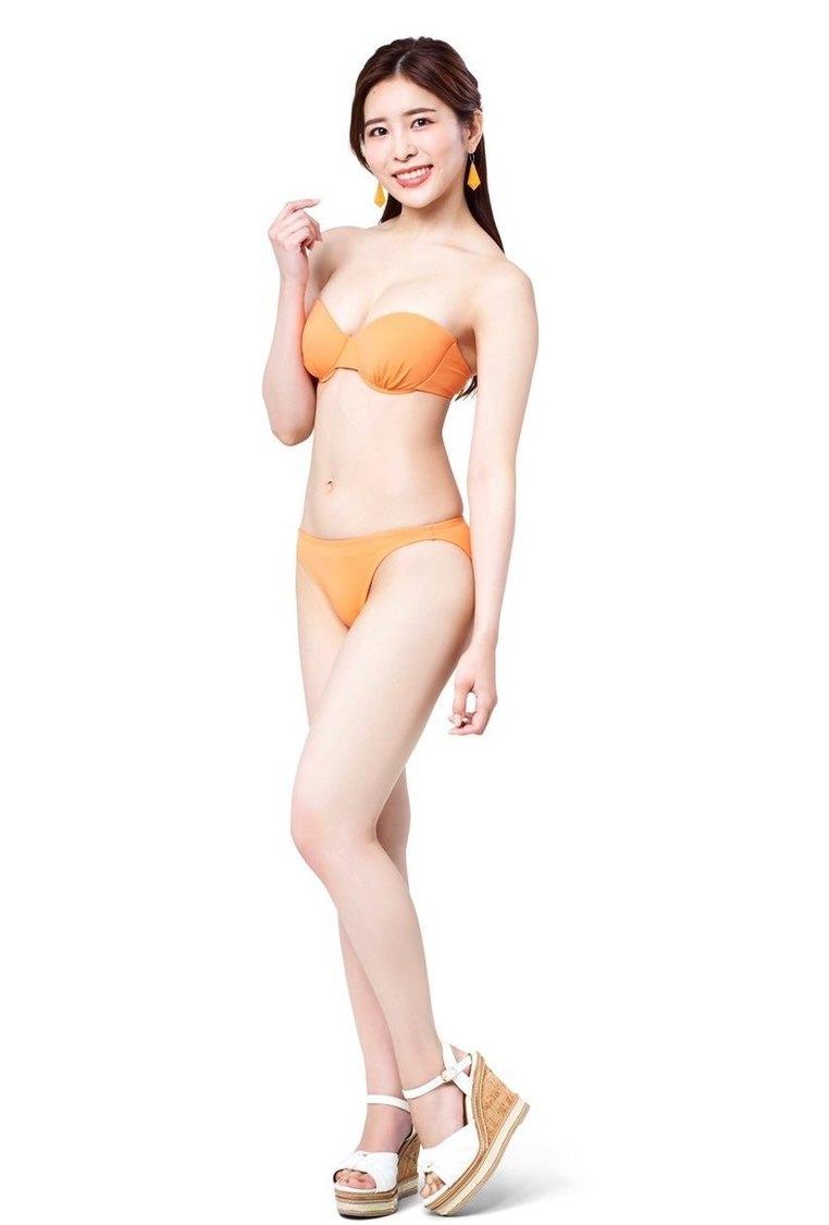 桃衣香帆、オレンジのビキニ姿で自己紹介! 9代目ミスマリンちゃんPR動画公開