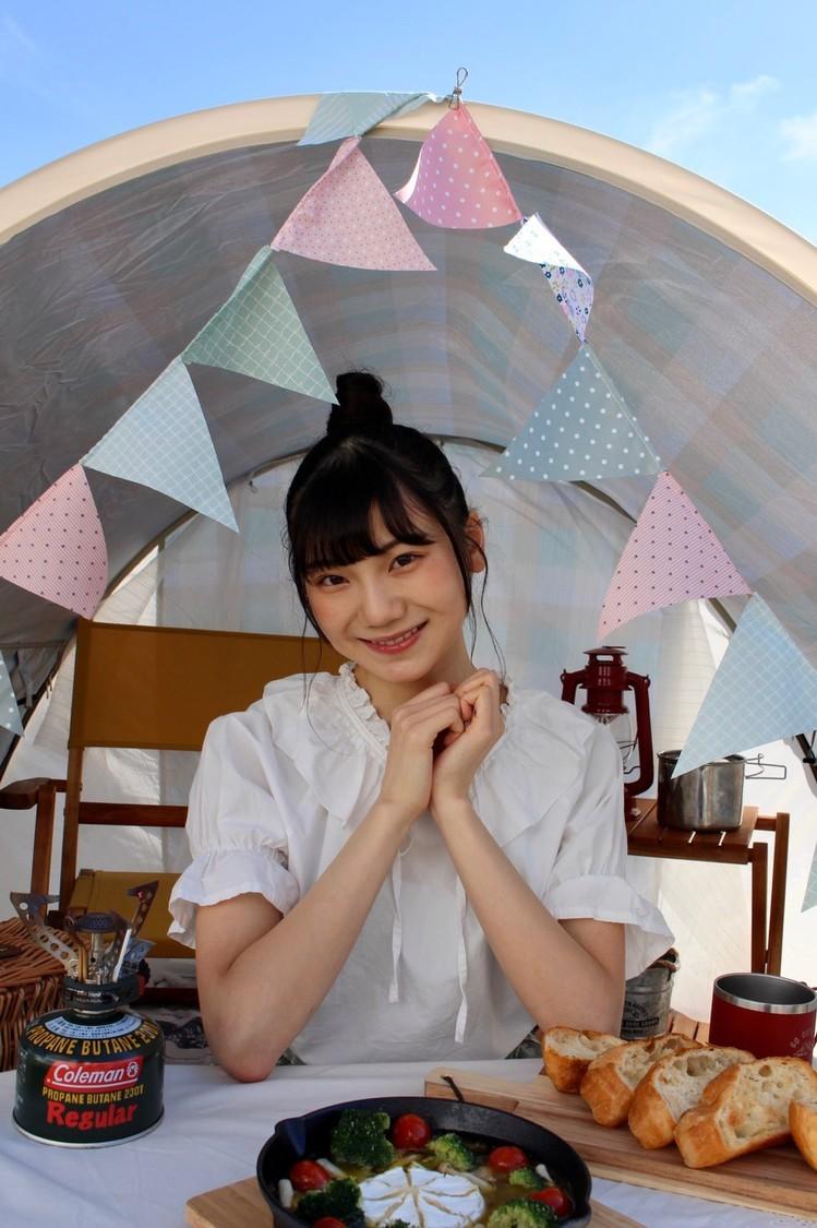 NGT48 藤崎未夢、キャンプ&アウトドア情報メディア「hinata」にて連載スタート!「アウトドアについて学んでいきたい」 ©Flora